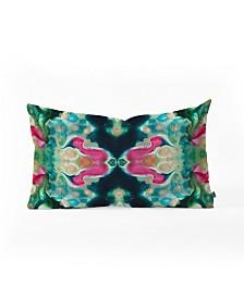 Crystal Schrader Botanical Jewels Oblong Throw Pillow