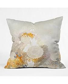 Iveta Abolina White Velvet Throw Pillow