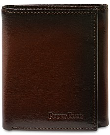 Portfolio Men's Leather Michigan Slim Ombre Trifold Wallet