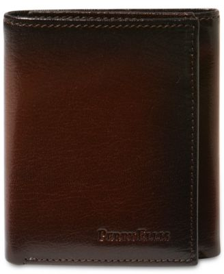 designer male wallets 4czv  Perry Ellis Men's Leather Michigan Slim Ombre Trifold Wallet
