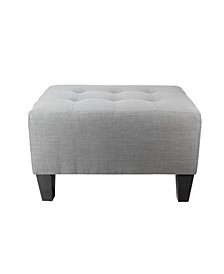 Max Button Tufted Upholstered Squared Ottoman