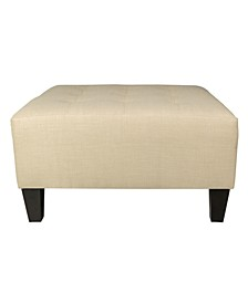 Max Button Tufted Upholstered Oversized Ottoman