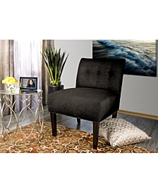Samantha Button Tufted Upholstered Accent Chair