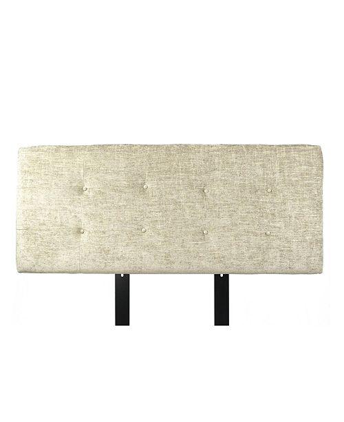 MJL Furniture Designs Ali Button Tufted Upholstered Full Headboard