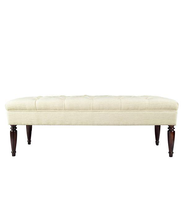 MJL Furniture Designs Claudia Diamond Tufted Entryway Bench