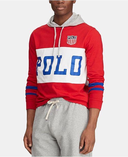 Polo Ralph Lauren Men's Big & Tall Chariots Jersey Hooded T-Shirt