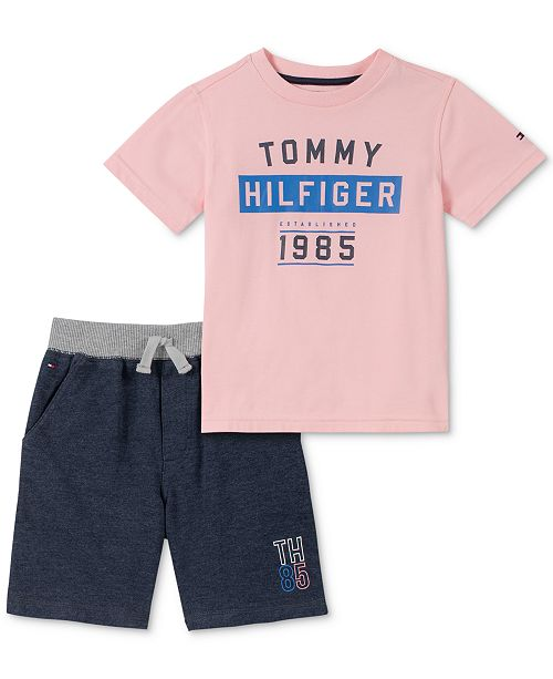 Tommy Hilfiger Baby Boys 2-Pc. T-Shirt & Shorts Set
