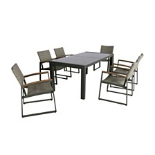 Rowan Outdoor 7pc Dining Set, Quick Ship