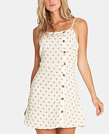 Juniors' Button-Front Mini Dress