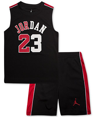9ca425c528c2d0 Jordan Little Boys 2-Pc. Sleeveless T-Shirt   Shorts Set   Reviews - Sets    Outfits - Kids - Macy s