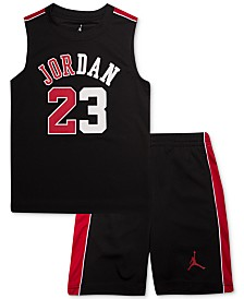 Jordan Little Boys 2-Pc. Sleeveless T-Shirt & Shorts Set