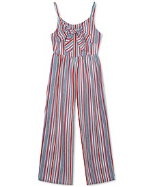 Little Girls Striped Jumpsuit