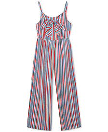 Rare Editions Little Girls Striped Jumpsuit