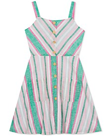 Big Girls Plus Chevron Striped Sundress