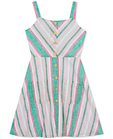 Rare Editions Big Girls Plus Chevron Striped Sundress