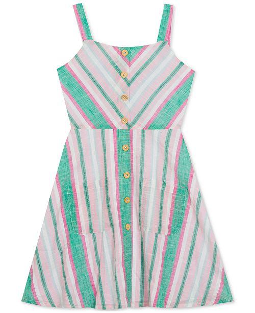 Rare Editions Big Girls Plus Chevron Striped Sundress