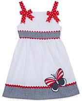 776bd55add Rare Editions Toddler Girls Americana Butterfly Sundress