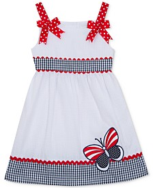 Rare Editions Little Girls Americana Butterfly Sundress