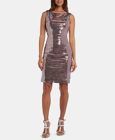 Nightway Petite Metallic Sheath Dress