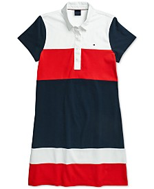 Tommy Hilfiger Adaptive Women's Jesse Bold Blocked Pollo Dress with Magnetic Closures