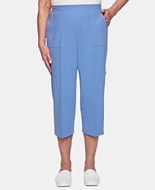 The Summer Wind Cotton Utility-Pocket Capri Pants