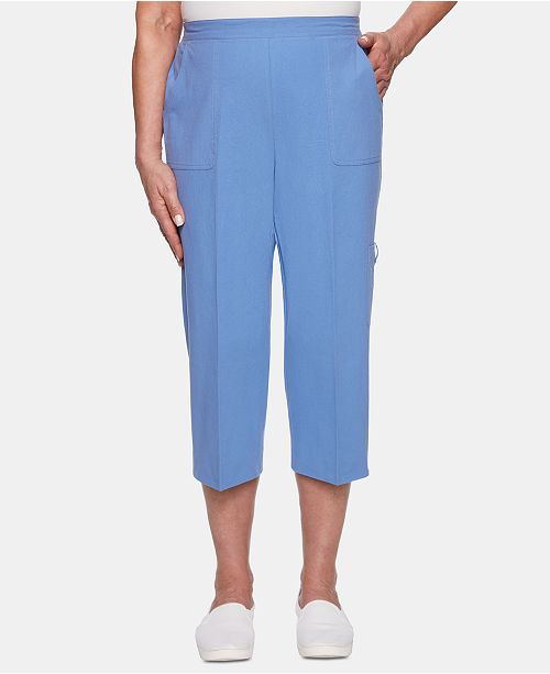 Alfred Dunner Petite The Summer Wind Cotton Cargo Capris