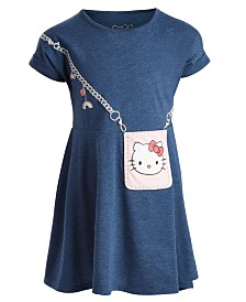 Hello Kitty Little Girls Purse & Charms Dress, Created for Macy's