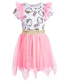 Hello Kitty Little Girls Handkerchief-Hem Dress, Created for Macy's