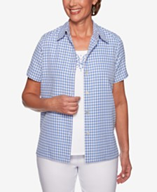 Alfred Dunner The Summer Wind Cotton Layered-Look Top