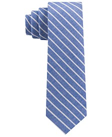 Toddler, Little & Big Boys Chambray Stripe Tie