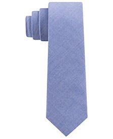 Toddler, Little & Big Boys Blue Chambray Tie