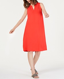 Eileen Fisher Sleeveless Tencel™ Keyhole Dress