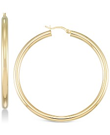 Simone I. Smith Polished Hoop Earrings