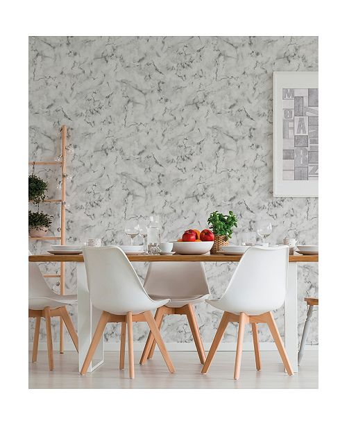 """Brewster Home Fashions Notting Hill Marble Wallpaper - 396"""" x 20.5"""" x 0.025"""""""