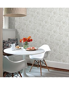 "Reverie Ginkgo Wallpaper - 396"" x 20.5"" x 0.025"""