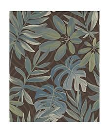 """Nocturnum Leaf Wallpaper - 396"""" x 20.5"""" x 0.025"""""""