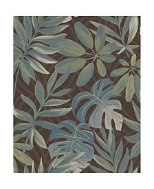 "Brewster Home Fashions Nocturnum Leaf Wallpaper - 396"" x 20.5"" x 0.025"""