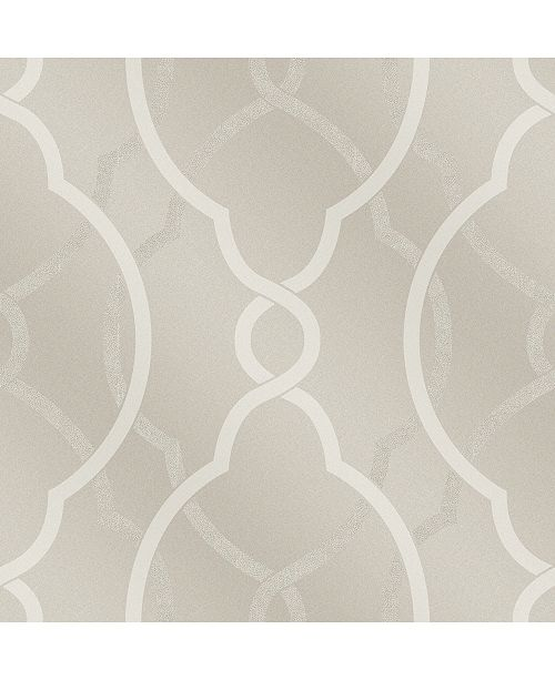 "Brewster Home Fashions Sausalito Lattice Wallpaper - 396"" x 20.5"" x 0.025"""