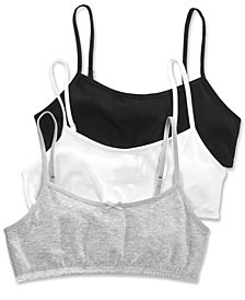 Maidenform 3-Pack Basic Crop Bras, Little Girls & Big Girls