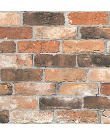 "Reclaimed Bricks Wallpaper - 396"" x 20.5"" x 0.025"""
