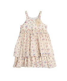 London Girls Sleeveless Floral Print Dress