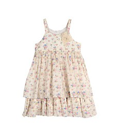 Laura Ashley Toddler and Little Girl's Sleeveless Floral Print Dress