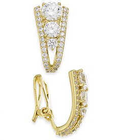 Eliot Danori Cubic Zirconia Clip-On Hoop Earrings, Created for Macy's