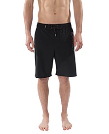 Men's Stretch Swim Trunk with Laser Cut Pocket