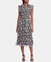 a08597502d502 Lauren Ralph Lauren Floral-Print Georgette Dress