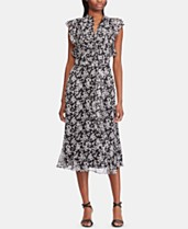 184b6eaf490 Lauren Ralph Lauren Floral-Print Georgette Dress