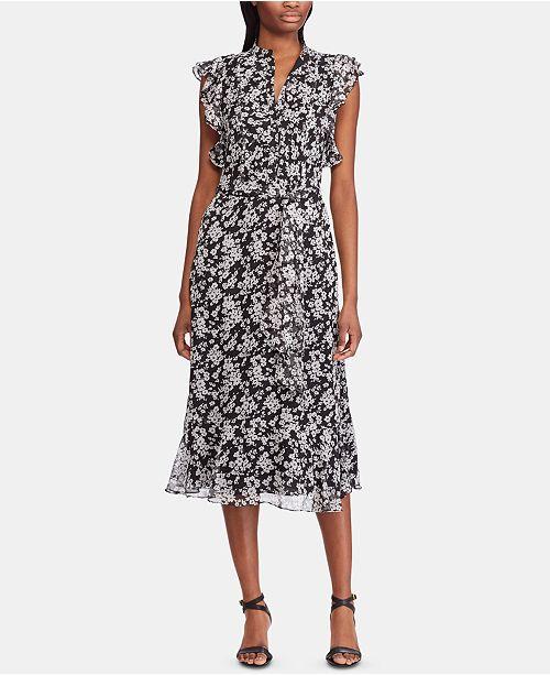 Lauren Ralph Lauren Floral-Print Georgette Dress