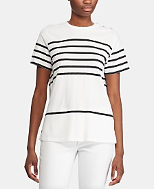 Lauren Ralph Lauren Stripe-Print Short-Sleeve Shirt