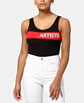 01df09341 ARTISTIX Chest-Stripe Logo Bodysuit