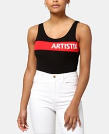ARTISTIX Chest-Stripe Logo Bodysuit